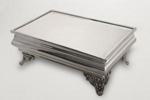 Portadolce rettangolare stile Cardinale argentato argento sheffield