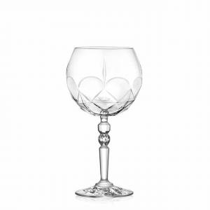 Set 6 calici in vetro cristallino per Gin Tonic cl 58 Alkemist cm.20,8h diam.10,8