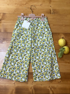 Pantaloni Vicolo Bambina fantasia limoni