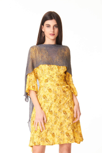 Women's anthracite cape | Women's ethnic accessories online