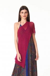 Ponchetto Rosso Ciliegia | Coprispalle donna  shop online