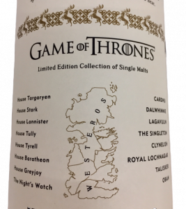 Games of Thrones : Whisky Oban Bay Reserve -Serie limitata
