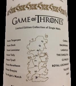 Games of Thrones : Whisky Royal Lochnagar 12 anni - Serie limitata -