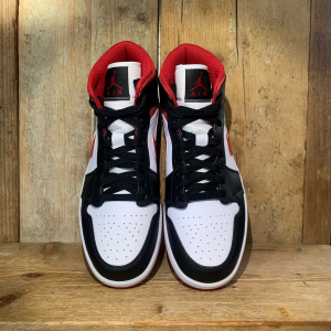 Scarpa Nike Air Jordan 1 Mid White Gym Red Black