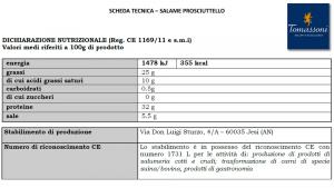 Salamino Prosciuttello - 250gr