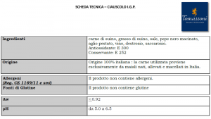 Salame Ciauscolo I.G.P. - 550/300gr