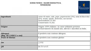 Salame Diavoletto piccante - 250gr