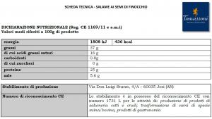 Salame con Semi di Finocchio - 250gr