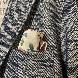 Blazer Gianni Lupo in Jersey Blu Melange