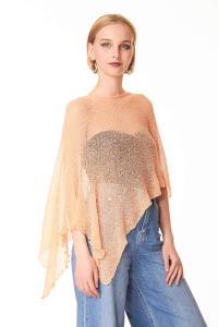 Elegant  women's salmon cape
