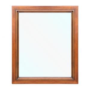 Spiegel aus Holz - Farbe Nussbaum - PROMO