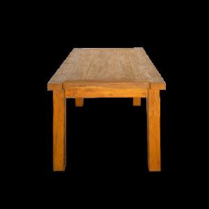 Tavolo in legno di teak recuperato da vecchie costruzioni balinesi