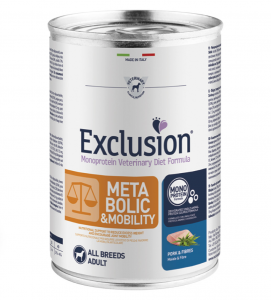 Exclusion - Veterinary Diet Canine - Metabolic+Mobility - 400g x 12 lattine