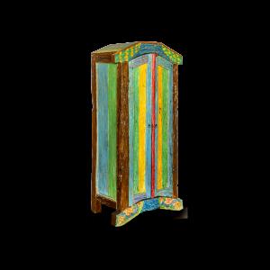 Armadio / Credenza con ante in legno di teak recuperato dalle vecchie barche