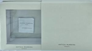 COLLANA IN FILO DI METALLO E PERLE DI VETRO SOFFIATO ANTICA MURRINA LUNGA 108 CM