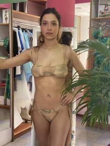 Bikini a fascia camouflage lurex Cotazur