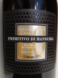 Vino Rosso Primitivo di Manduria Sessantanni Primitivo di Manduria DOP 2017