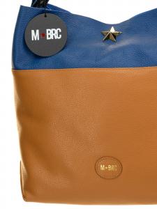 M BRC Borsa a Tracolla Cognac e Bluette