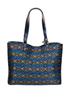 M BRC   Borsa  Shopping  azzurro