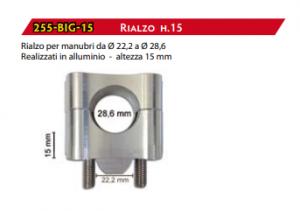 255-BIG-25 RIALZO MODIFICA MANUBRIO 22/28 MOTOCICLI