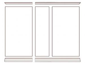 Anbauwand Türen und Schubladen