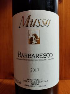 Barbaresco Docg 2017 Musso cl.75