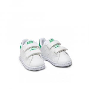 Adidas Stan Smith con Strappi Bianco Verde da Bambini