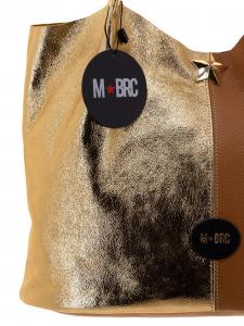 M BRC Borsa a Spalla Cognac oro