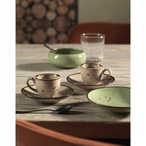SET 6 TAZZE CAFFE' CON PIATTINO LINEA COTTAGE WEISSESTAL