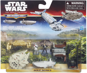 Micro Machines Star Wars The Force Awakens: Deluxe Vehicle Pack Space Pursuit by Hasbro