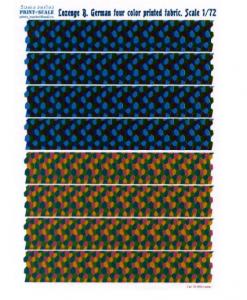 Lozenge B. German 4 color printed fabric