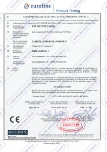 MASCHERINA FFP2 CILIEGIA TAGLIA L IG MASK (GMM LABS)