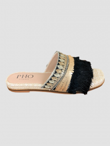 SHOPPING ON LINE PHO FIRENZE SABOT APERTO IN STUOIA NATURALE E LUREX NEW COLLECTION WOMEN'S SPRING SUMMER 2021