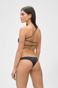 Bikini fascia monospalla e slip brasiliano fisso Moonlight Me Fui Taglia L e LG