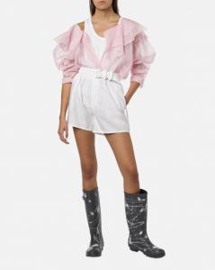 Blusa rosa in organza di cotone philosophy di Lorenzo serafini