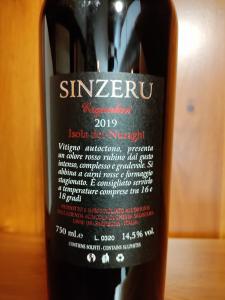Sinzeru Cagnulari Isola dei Nuraghi Igt 2019 cl.75
