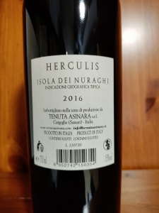 Herculis Isola dei Nuraghi Igt 2016 cl.75