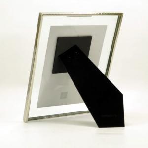 Cornice vetro 13x18 con bordo fino cromato di Mascagni