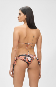Bikini Triangolo Frou Frou e slip nodi regolabile  In Bloom Me Fui