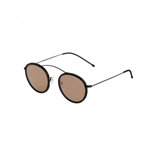 Occhiali da sole specchio oro collezione Met-ro 2 Flat ad alta protezione