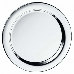 Piattino tondo in metallo placcato argento