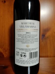 Marchese di Villamarina Alghero Cabernet Doc Riserva 2015 cl.75 S&M