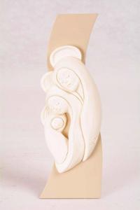 Bassorilievo Sacra Famiglia Bianco Luna 4761B 16x6 cm