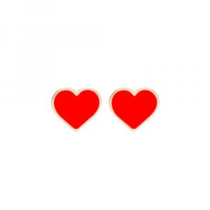 Orecchini cuore rosso Francesca Bianchi Design