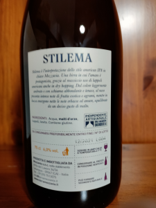 Stilema American Ipa Birra Artigianale Birrificio Mezzavia cl.75