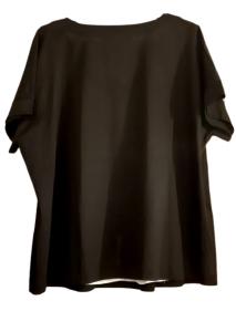 Maglia donna| bi-strato | cotone nero e maglina bianca| Made in Italy