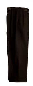 Pantalone donna nero | cotone | elastico in vita | Made in Italy
