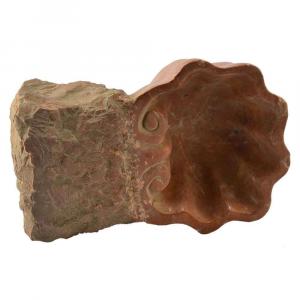 Acquasantiera multiuso in marmo Rosso Francia