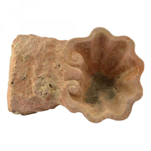 Conchiglia portaoggetti in marmo Travertino Soleado scolpito a mano