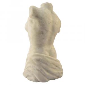 Busto femminile in marmo Bianco Carrara scolpito a mano